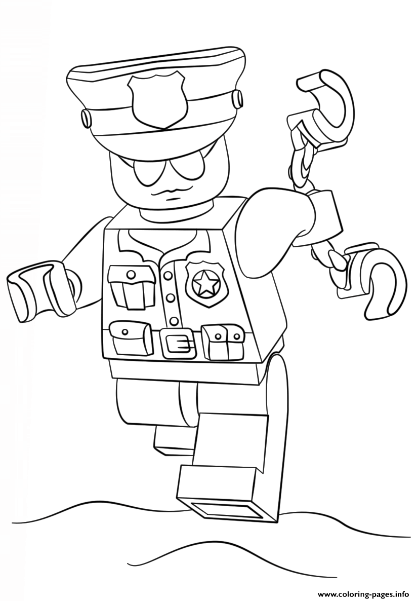 824x1186 Lego Police Officer City Coloring Pages Printable