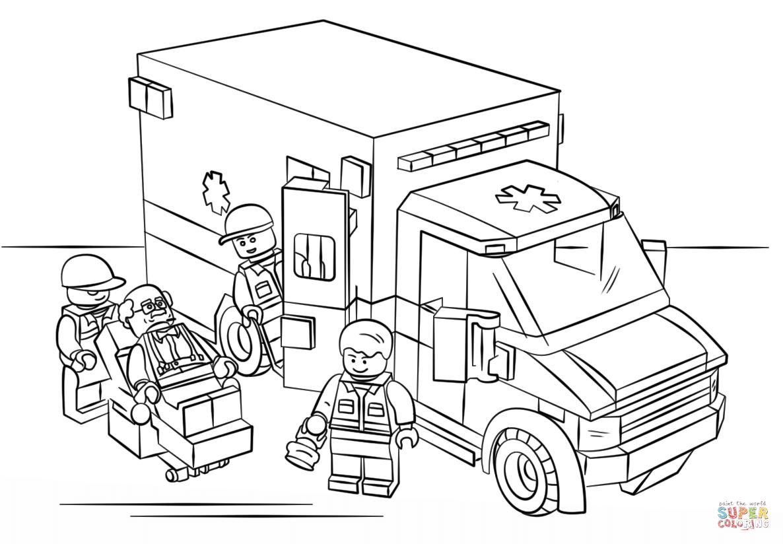 1186x824 Lego Ambulance Coloring Page Lego City Category Select