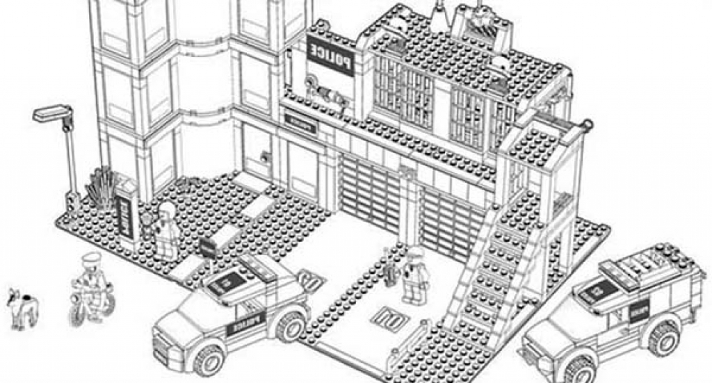 Lego City Police Coloring Pages At Getdrawings Com Free For