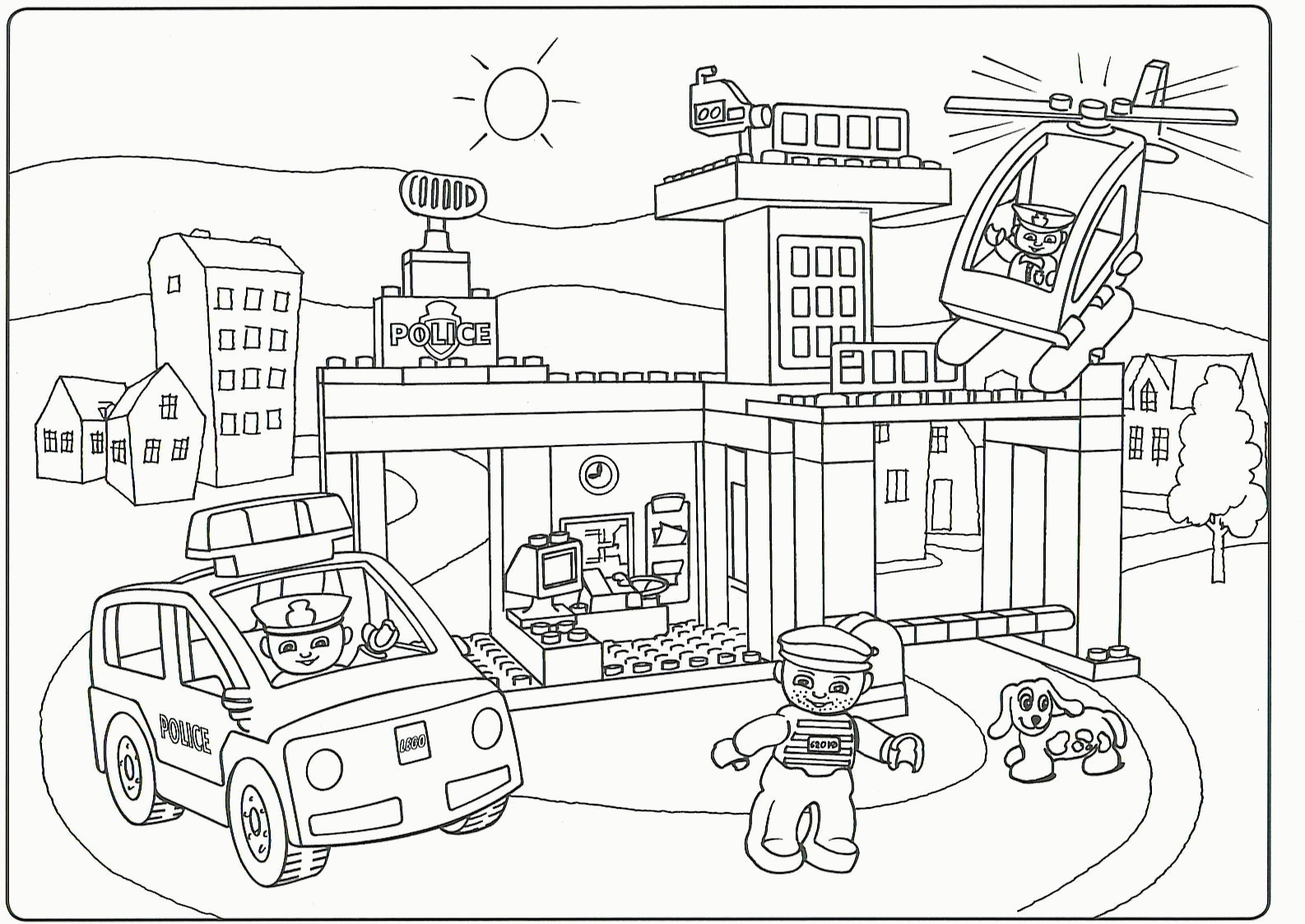 Lego City Undercover Coloring Pages at GetDrawings | Free ...