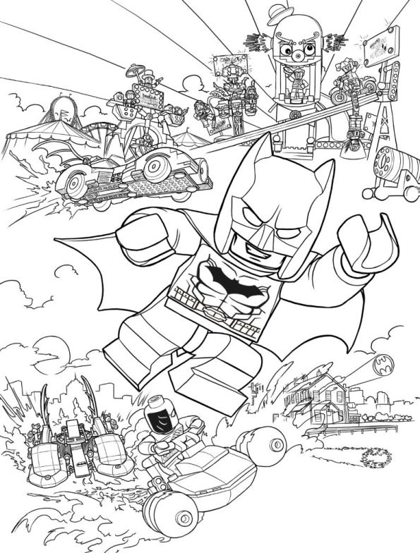 595x784 Kids N Coloring Pages Of Lego Batman Movie