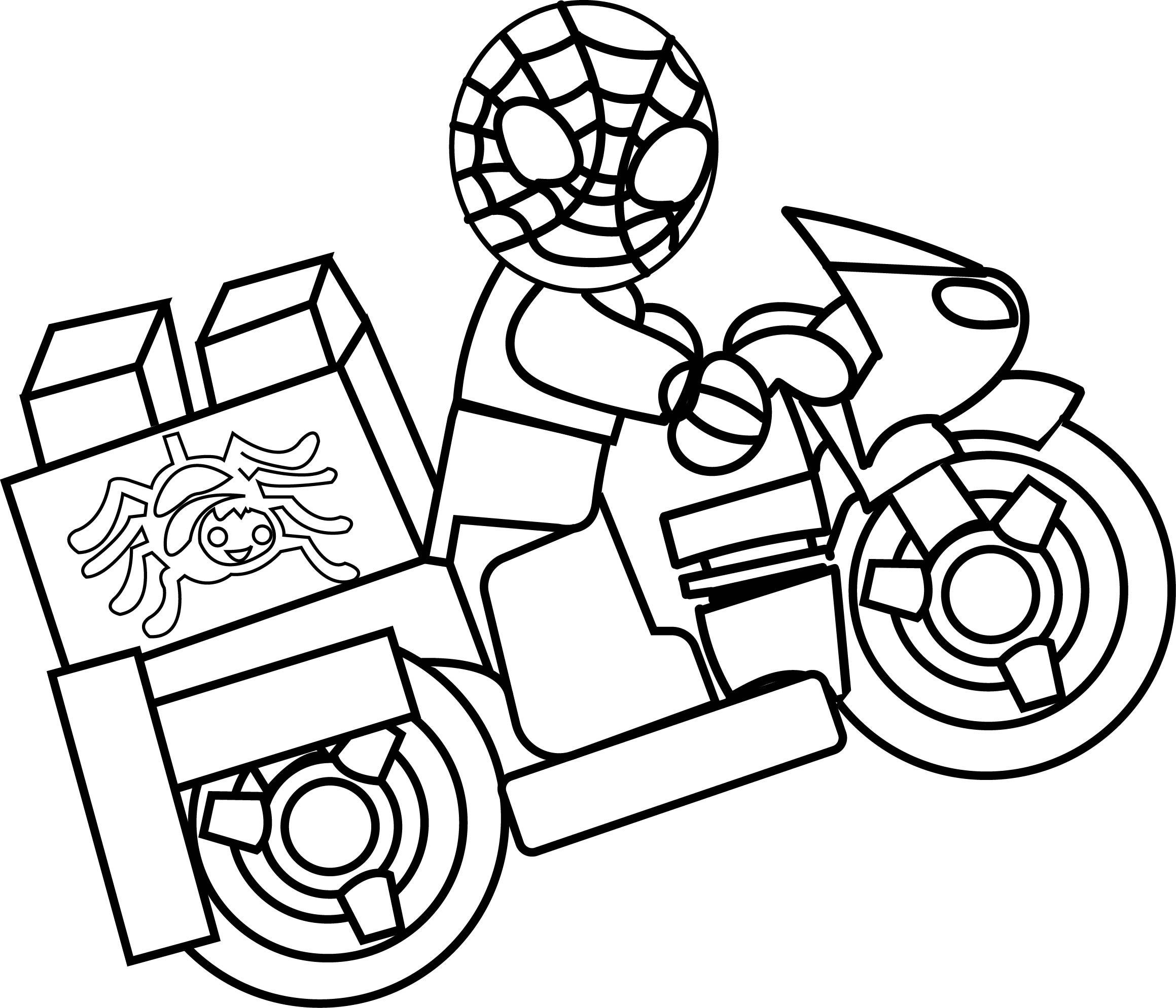 2319x1989 Lego Spiderman And Batman Coloring Book Pages Kids