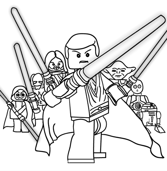 650x666 Lego Star Wars Coloring Pages