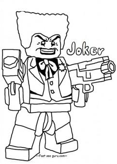 242x338 Printable Lego Batman Joker Coloring Pages For Boy