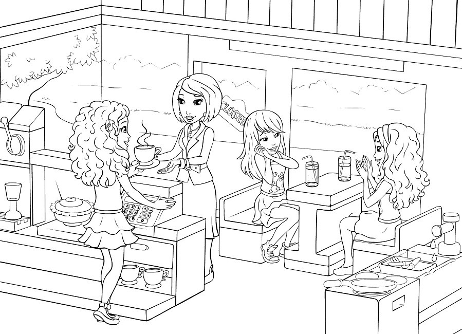Lego Coloring Pages For Girls
