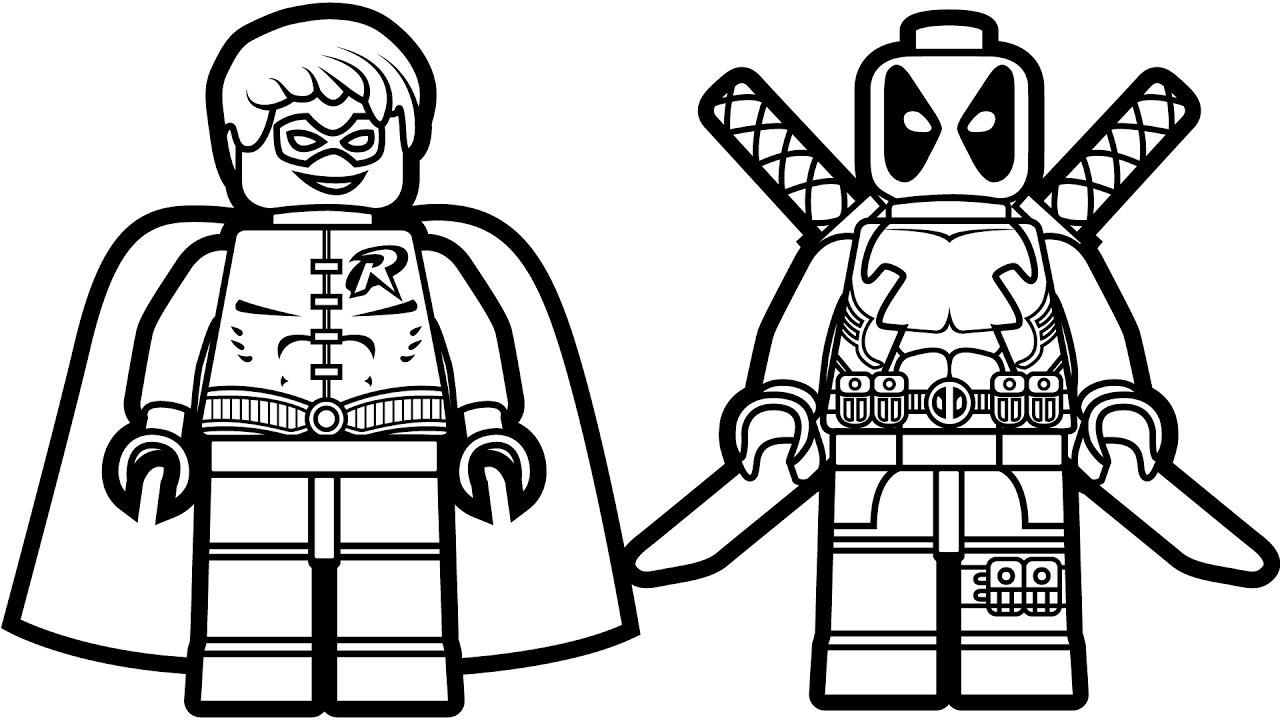 1280x720 Lego Coloring Sheets Printable