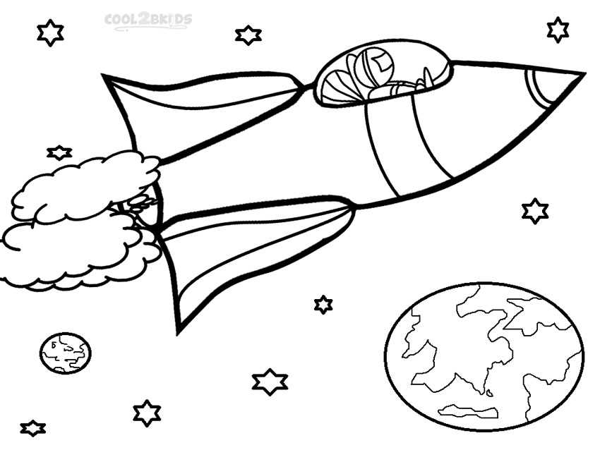 850x638 Printable Rocket Ship Coloring Pages For Kids