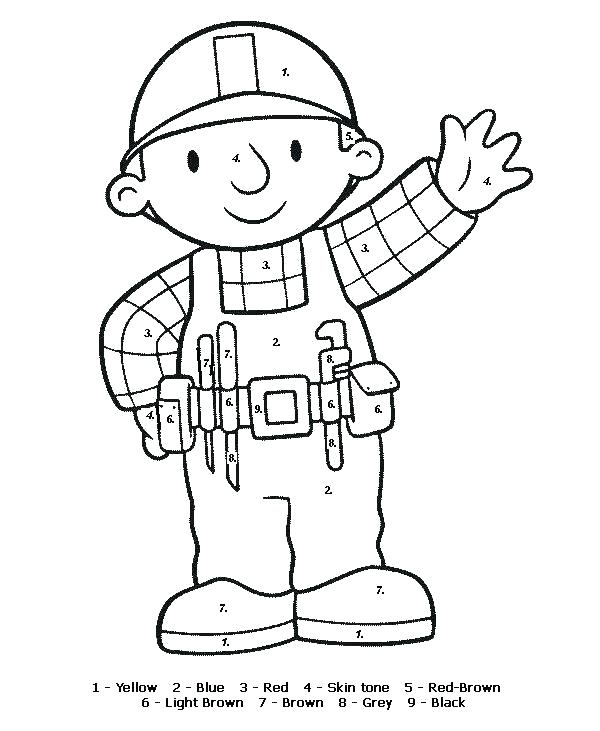 600x731 Construction Worker Coloring Page Construction Free Construction