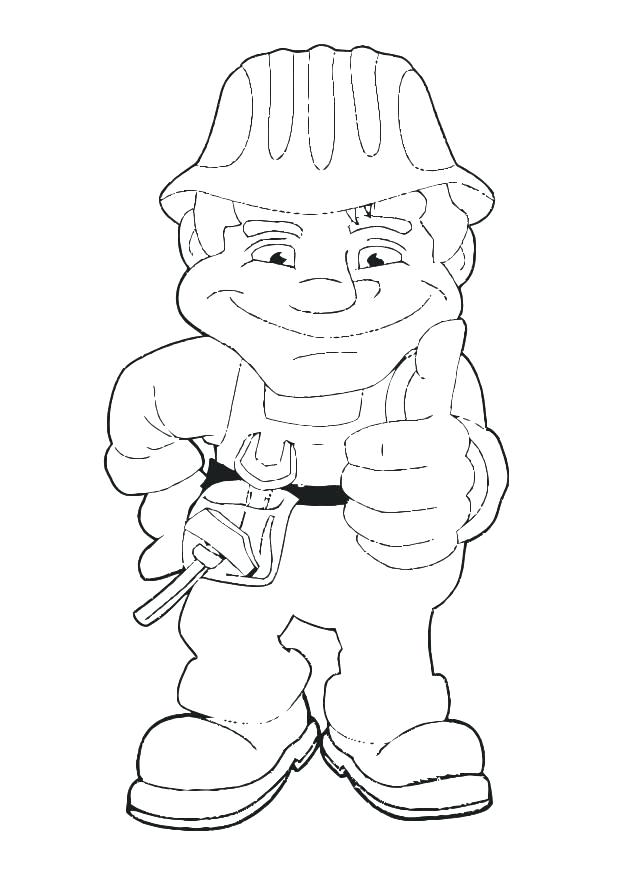 620x875 Construction Worker Coloring Page Download Large Image Lego