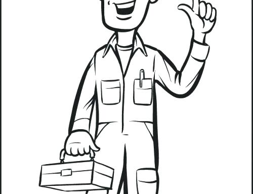 500x383 Construction Worker Coloring Page Tool Coloring Pages Construction