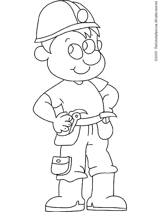 540x720 Construction Worker Coloring Pages Construction Worker Lego