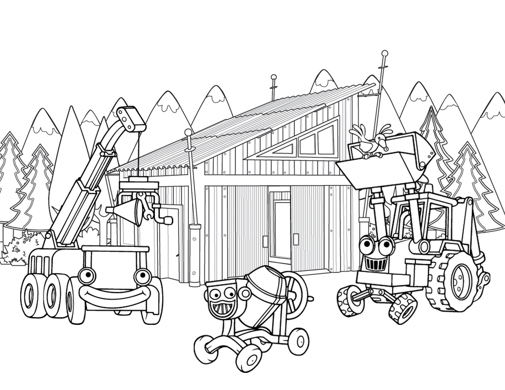 1650x1275 Lego Juniors Mini Truck Coloring Page Com Us Inside Construction