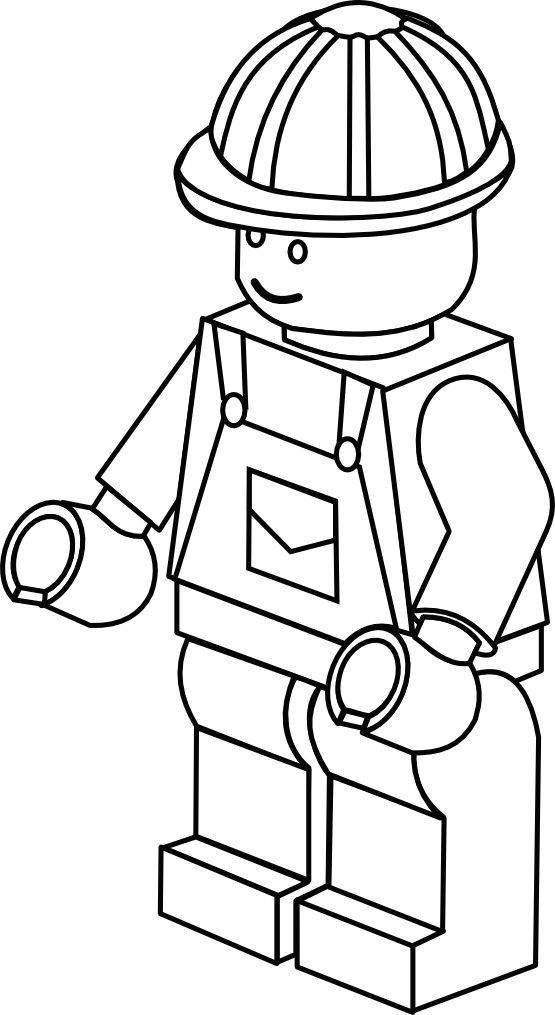555x1015 Lego Construction Worker Coloring Page Add Memory Verse To Bottom