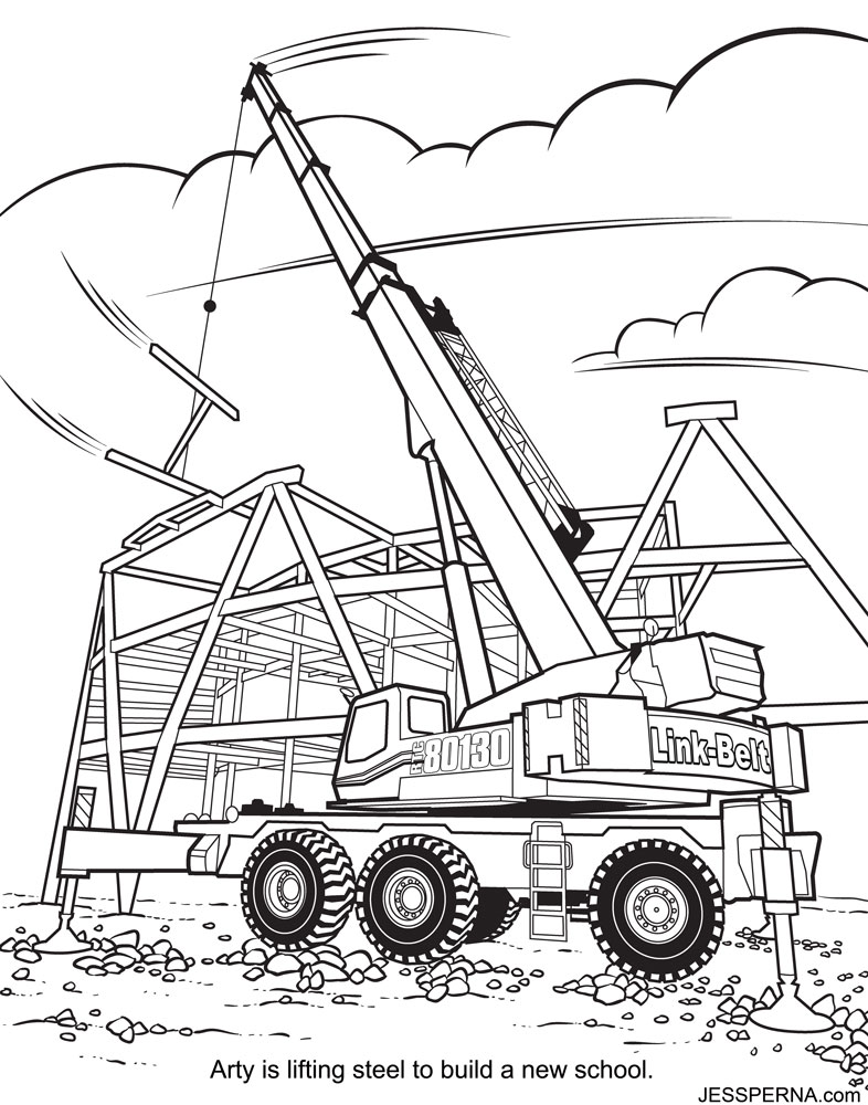 786x1000 Construction Coloring Pages