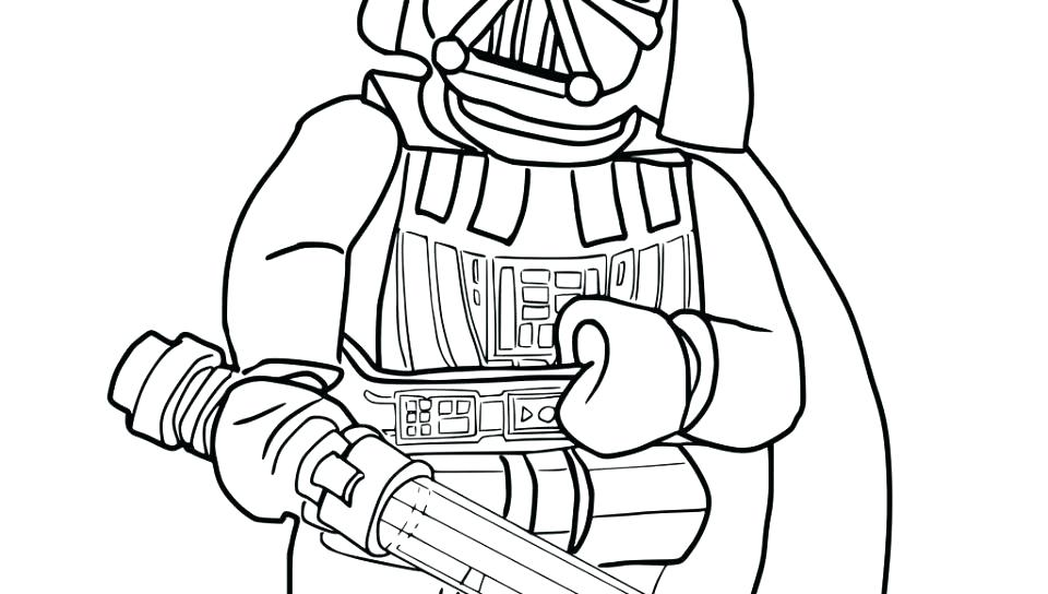 Lego Darth Vader Coloring Pages At Getdrawings Com Free For