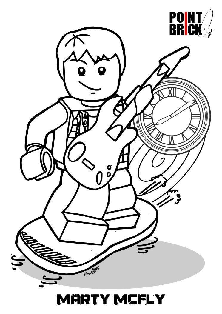 744x1052 Disegni Lego Dimensions Portal E Ritorno Al Futuro Lego, Portal