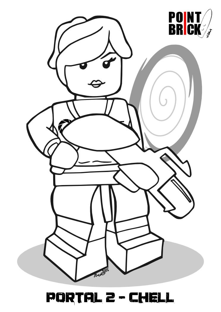 744x1052 Disegni Lego Dimensions Portal E Ritorno Al Futuro Lego