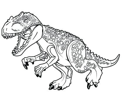 Lego Dinosaur Coloring Pages At Getdrawings Com Free For Personal