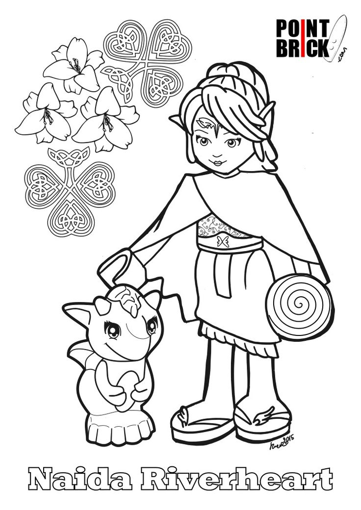Lego Elves Dragon Coloring Pages