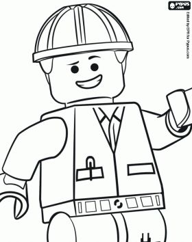 Lego Figure Coloring Page