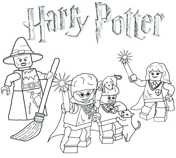 618x556 Lego Minifigure Coloring Pages Harry Potter Cool Coloring Pages