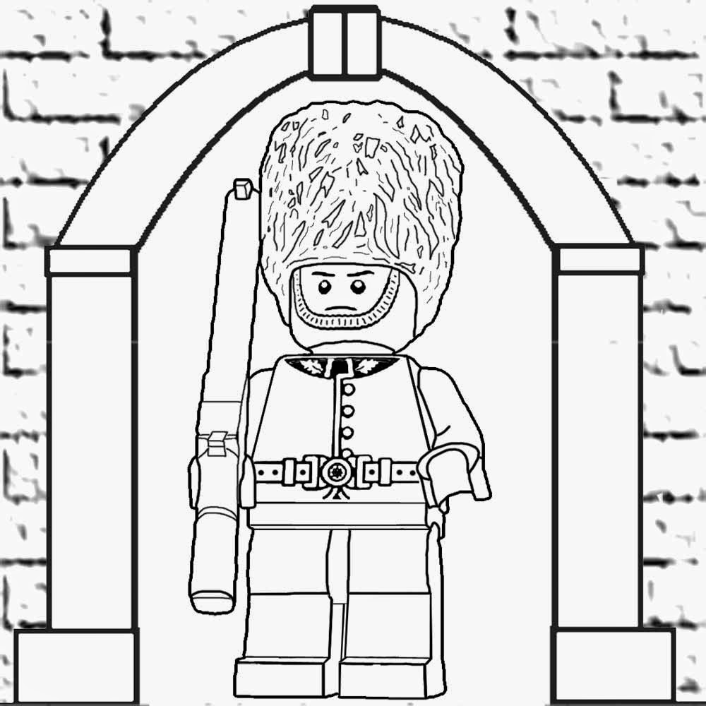 1000x1000 Lego Minifigures Coloring Pages