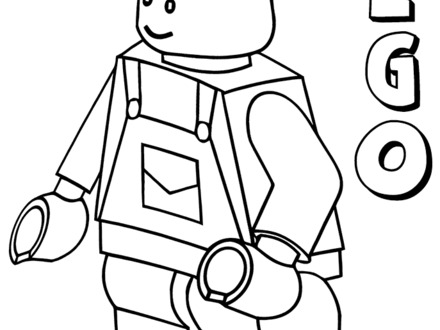 It's just an image of Lego Minifigure Printable with coloring