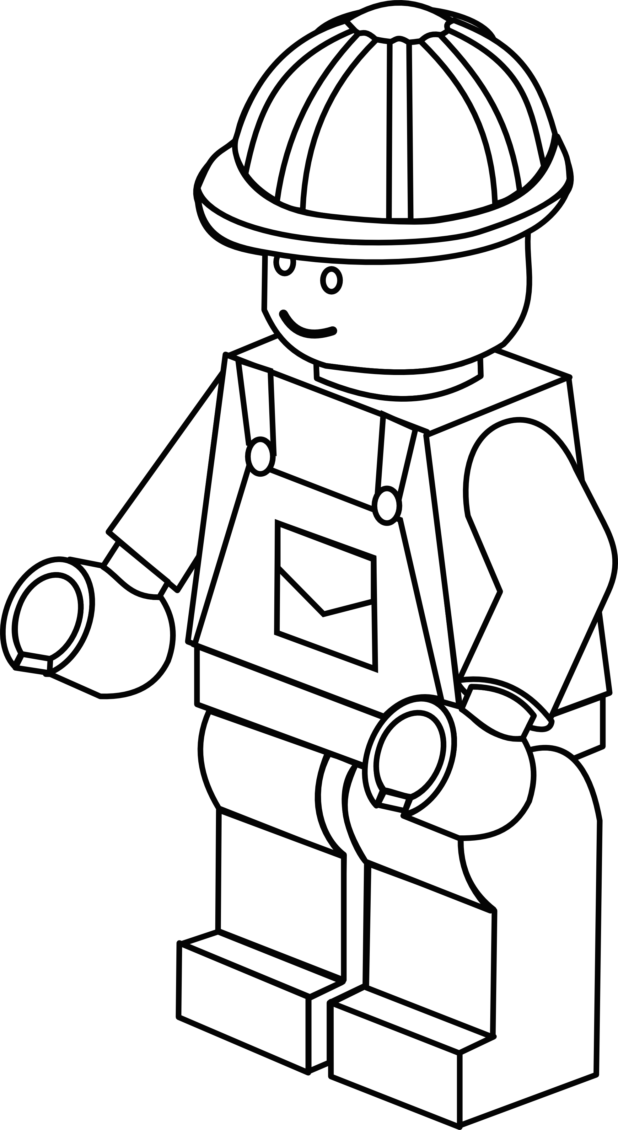 1969x3601 More Complex Lego Figure Colouring Sheet Lego Birthday