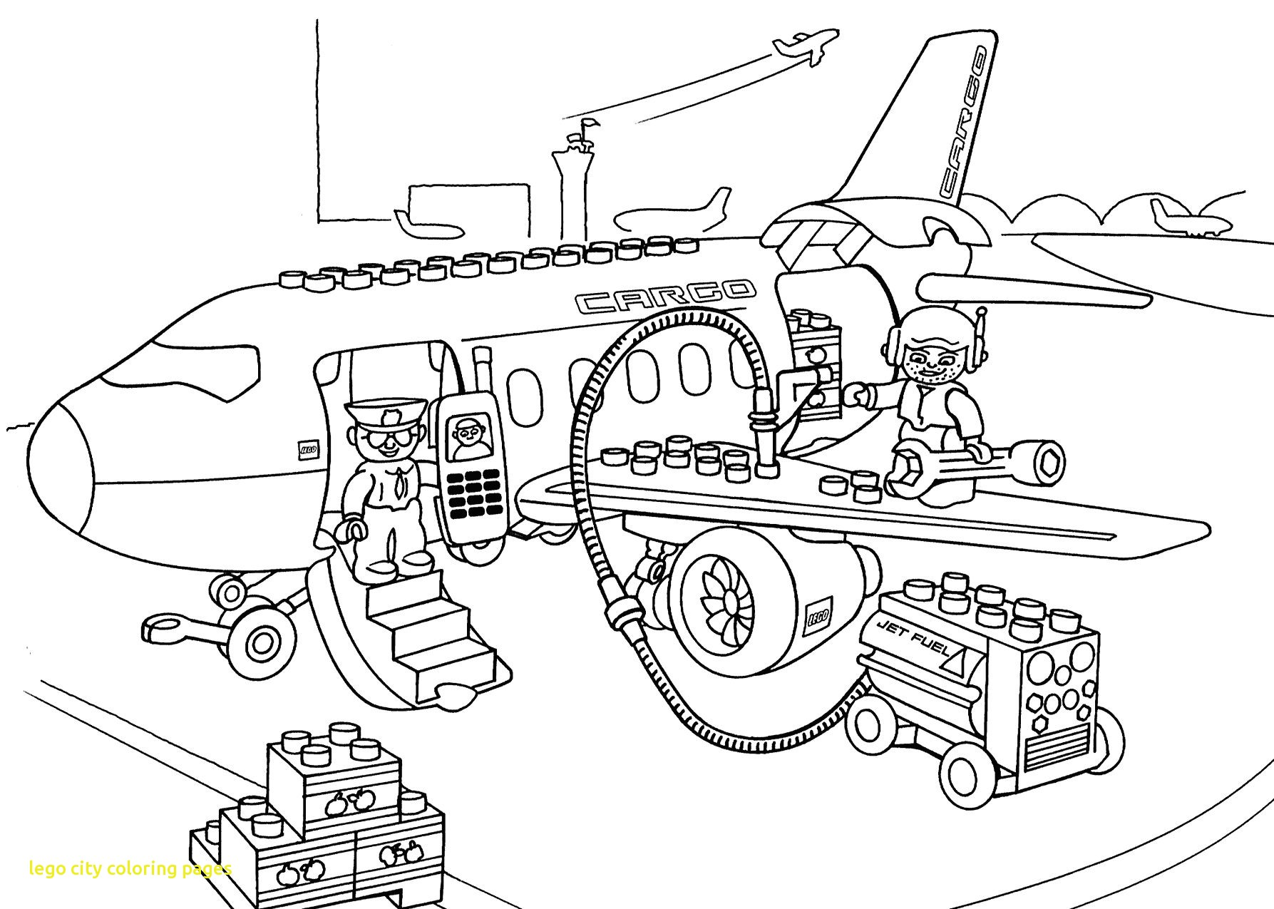 Lego Fire Truck Coloring Pages