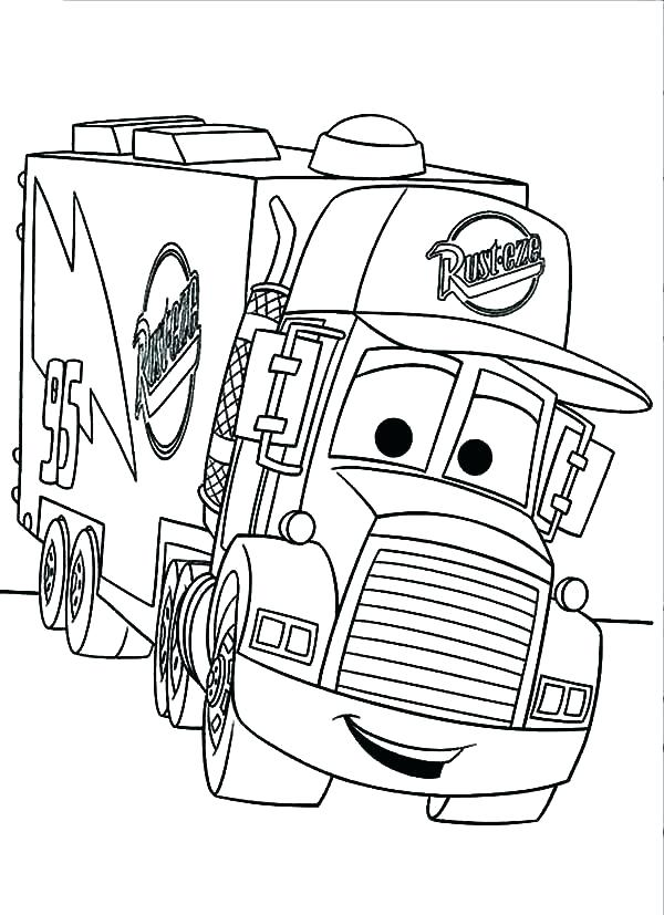 600x827 Firetruck Coloring Page Truck Pages Free Car Transporter The Fire