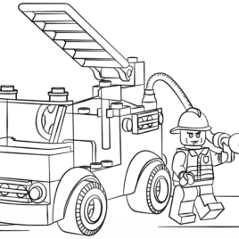 268x268 Lego Fire Truck Coloring Page Free Printable Coloring Pages Lego
