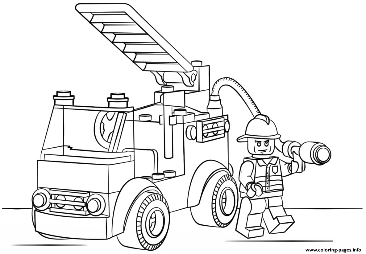1186x824 Lego Fire Truck Police Coloring Pages Printable