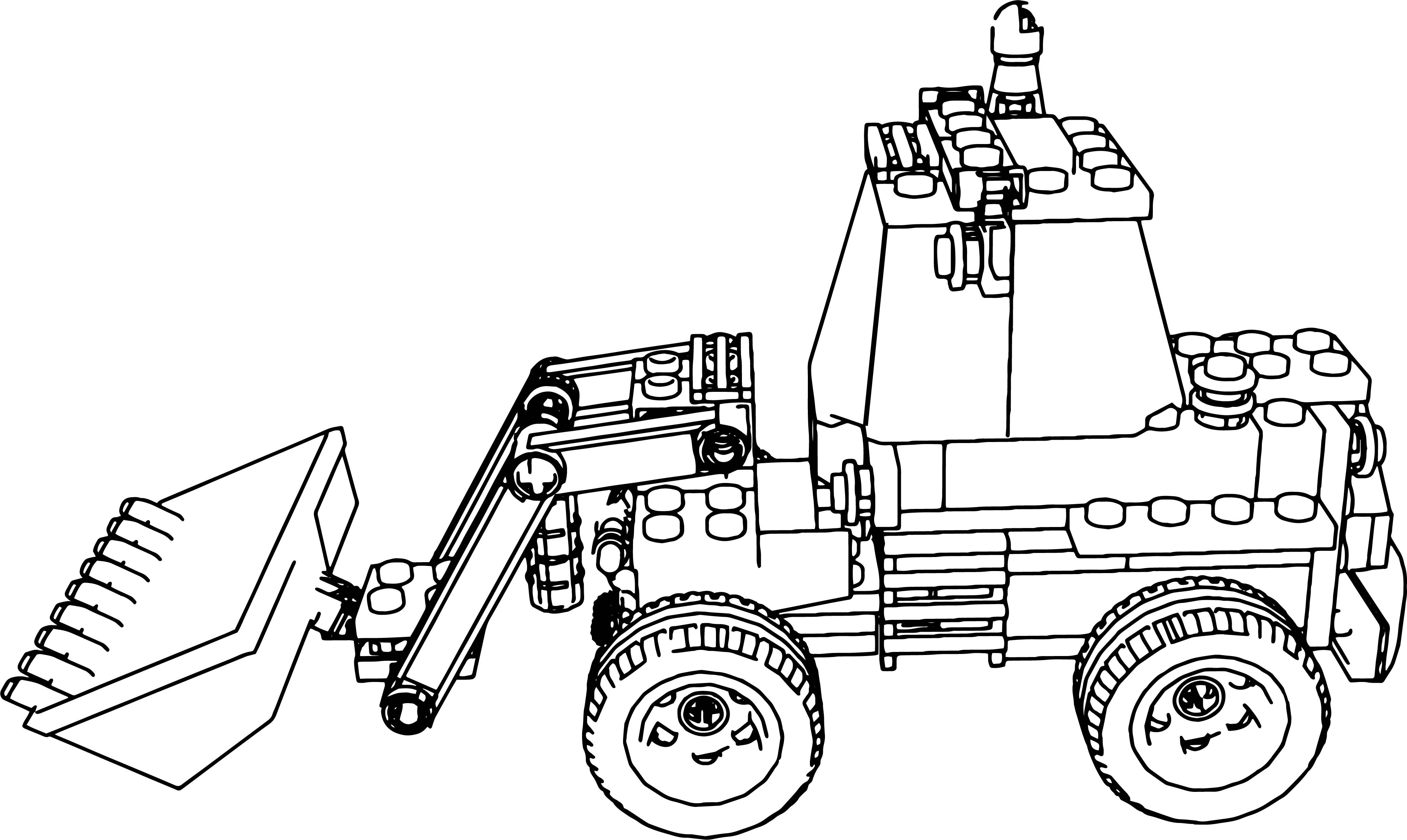 4119x2461 Lego Truck Coloring Page For Kids Inspirational Lego Excavator