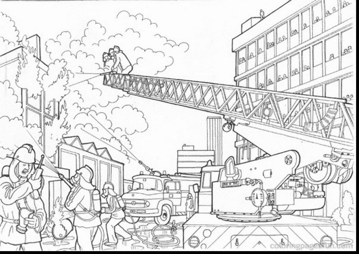 1241x880 Successful Fire Station Coloring Page Lego City Pages