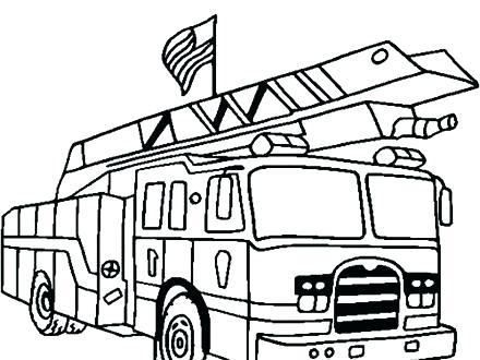 440x330 Coloring Pages Of Fire Trucks
