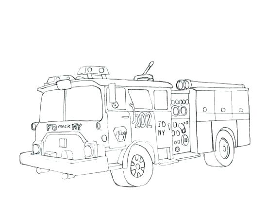 550x412 Fire Truck Coloring Pages