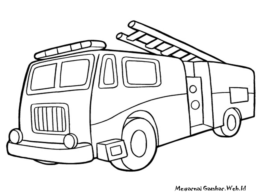 1024x768 Fire Truck Coloring Pages Elegant Fireman Is Driving The Truck