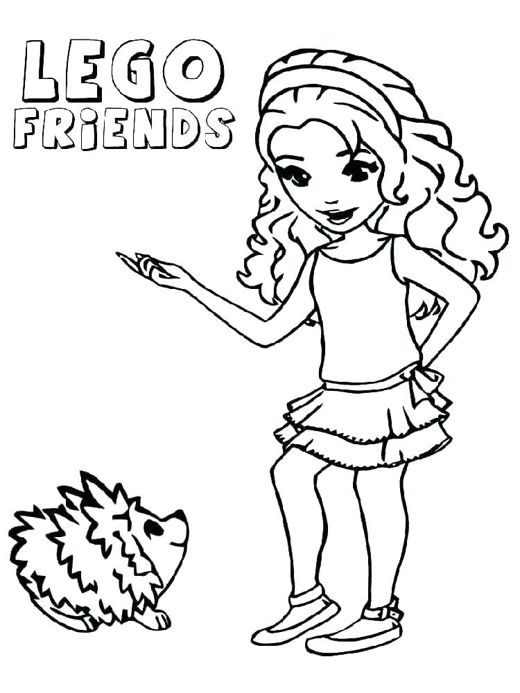 Lego Friends Coloring Pages At Getdrawingscom Free For Personal