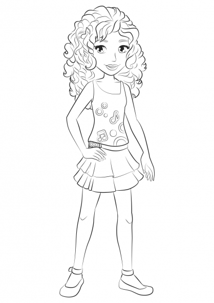 418x591 Lego Friends Coloring Pages