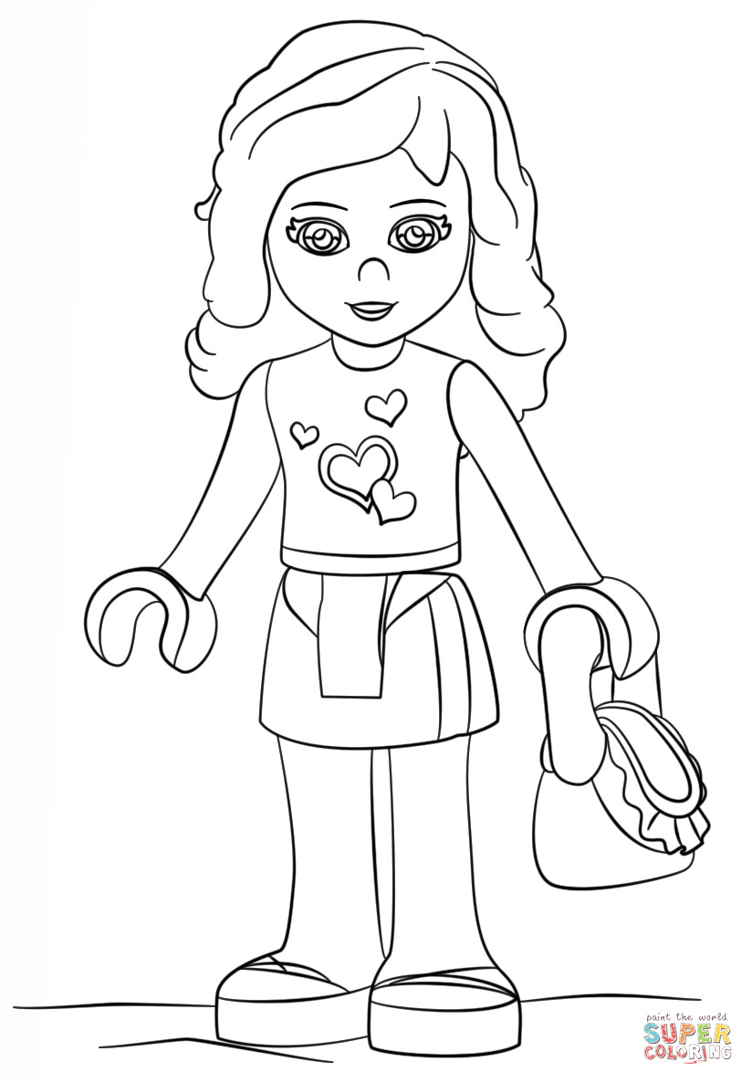 824x1186 Lego Friends Coloring Pages And Girls Livi Within