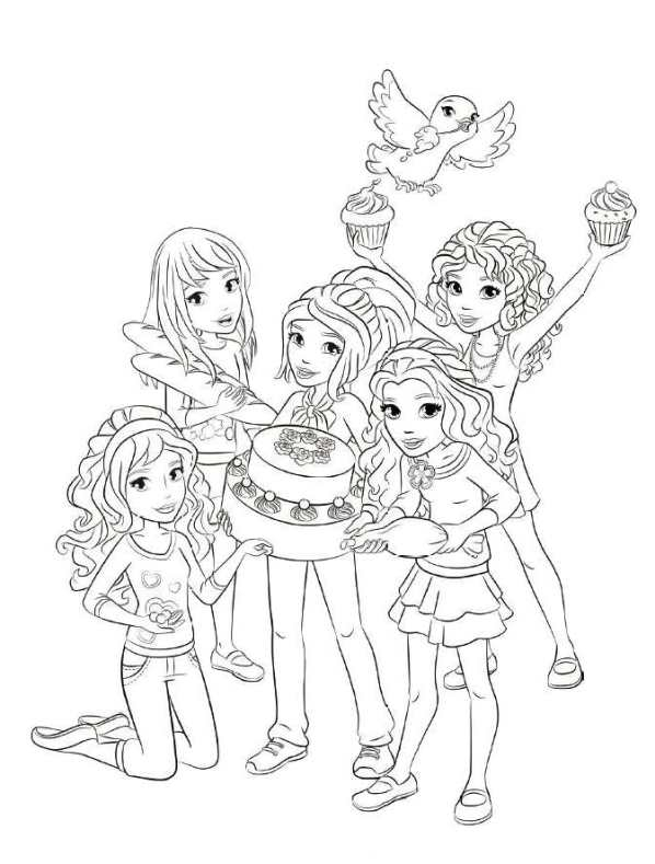 598x789 Lego Friends Coloring Pages To Print Lego Rubber Boat Coloring