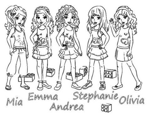 470x374 Collection Of Solutions Lego Friends Coloring Pages