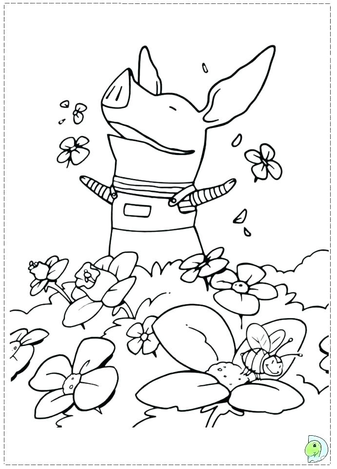 691x960 The Pig Playing Football Coloring Page The Pig Playing Football