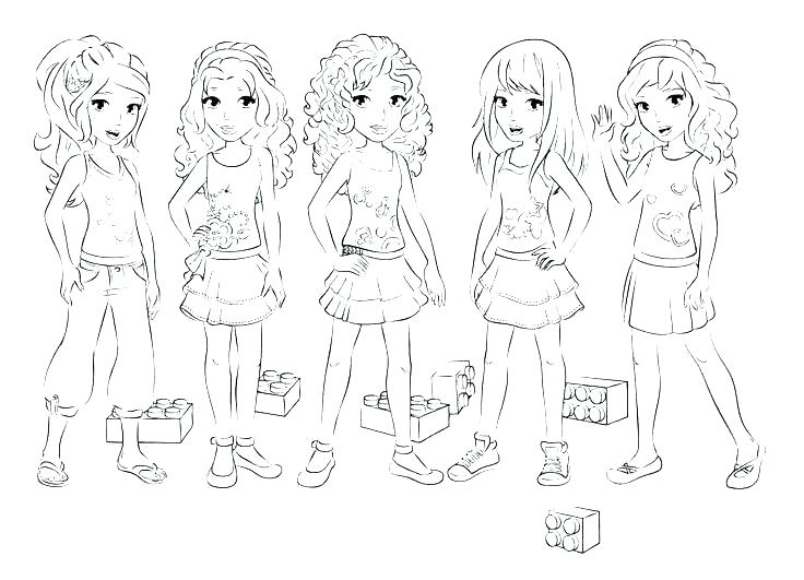 Lego Friends Olivia Coloring Pages At Getdrawings Com Free