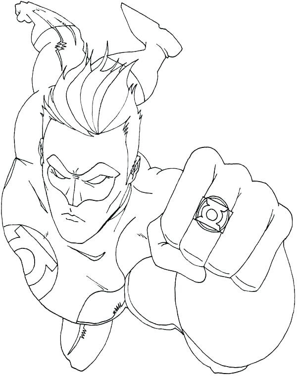 600x764 Green Lantern Coloring Pages Green Lantern Coloring Page Green