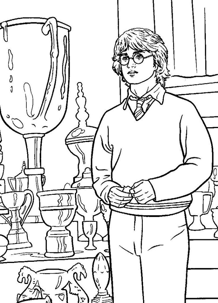 736x1022 Best Harry Potter Coloring Images On Harry Potter