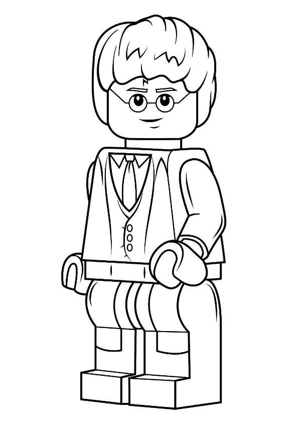 594x840 Kids N Coloring Pages Of Lego Harry Potter