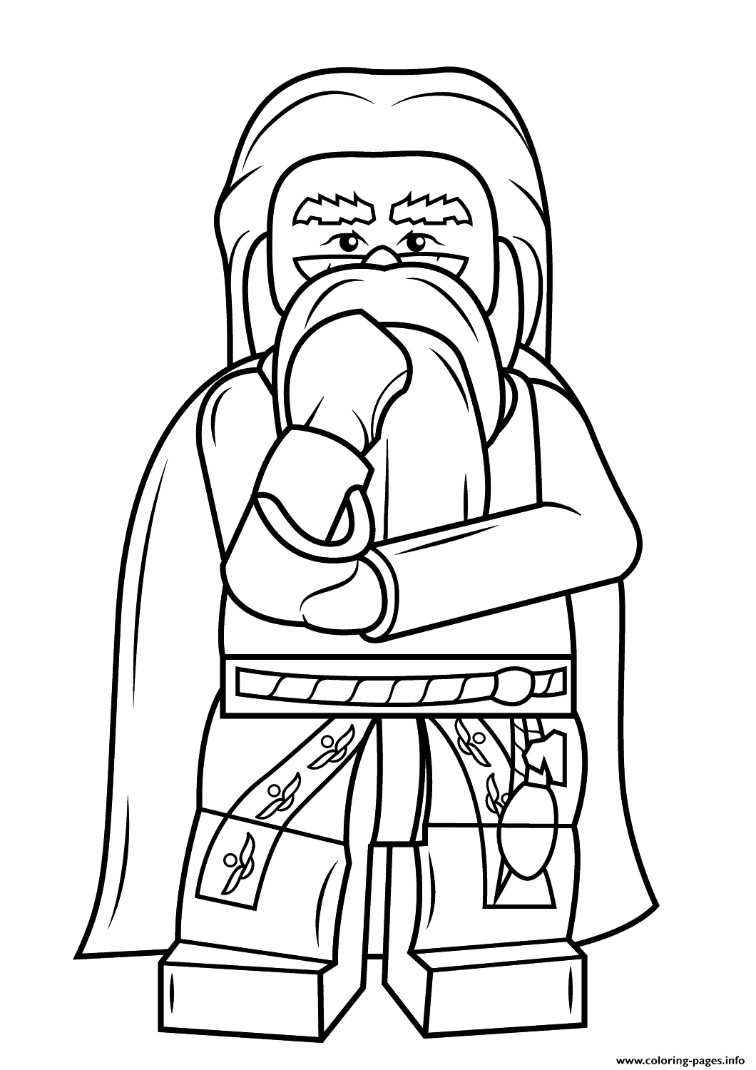 1060x1500 Lego Albus Dumbledore Harry Potter Coloring Pages Printable