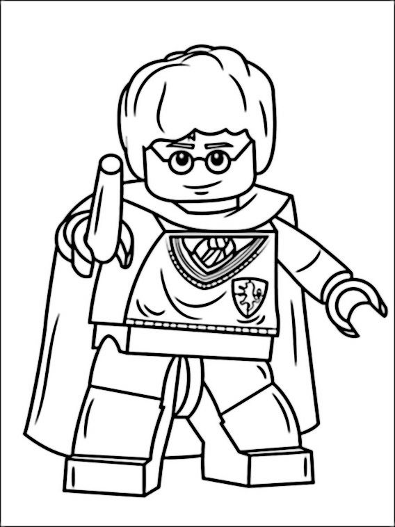 568x758 Lego Harry Potter Coloring Pages Coloring Is Therapeutic