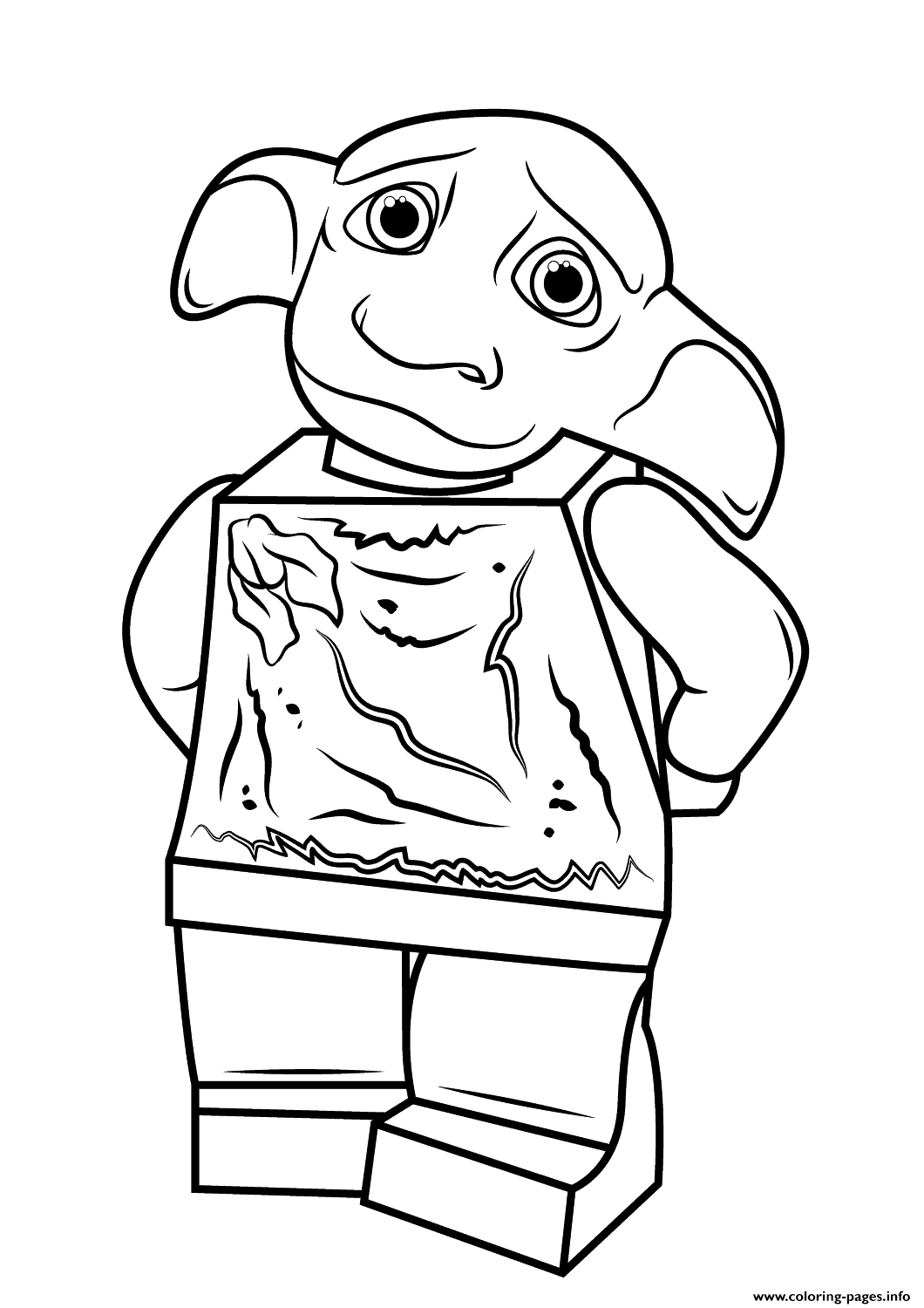 1060x1500 Lego Harry Potter Dobby Coloring Pages Printable
